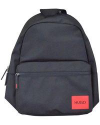 HUGO Black Red Logo Ethon Backpack