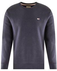 Tommy Hilfiger Flag Logo Navy Sweatshirt - Blue