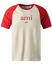 AMI - Bicolor T-shirt - Lyst