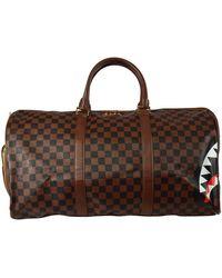 Sprayground Brown Shark Duffle Bag