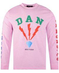 DSquared² Pink Diamond Co L/s T-shirt