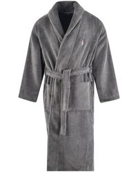 Polo Ralph Lauren Charcoal Grey Robe Dressing Gown