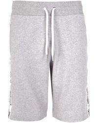 Moschino - Grey Logo Tape Cotton Shorts - Lyst