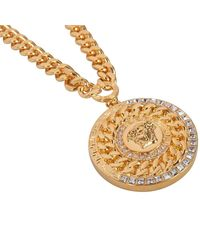 Versace Gold Medusa Pendant Chain Necklace - Metallic