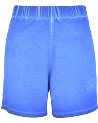 Opening Ceremony Cobalt Embroidered Rose Shorts - Blue