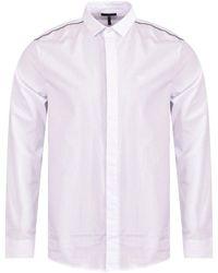 Emporio Armani White Eagle Slim Ls Shirt