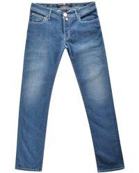 Jacob Cohen Carbon Button Blue Jeans