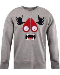 Moose Knuckles - Graphic Applique Cotton-jersey Sweatshirt - Lyst