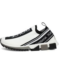 Dolce & Gabbana Stretch Mesh Sorrento Sneakers With Logotape Detailing - Multicolour