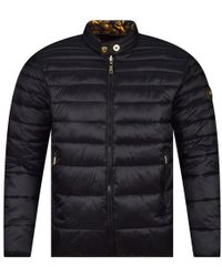 Versace Jeans - Black/gold Reversible Padded Jacket - Lyst
