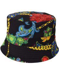 Versace Jewel Print Bucket Hat - Black