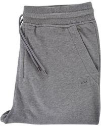 BOSS Orange - Light Grey Logo Jogging Bottoms - Lyst