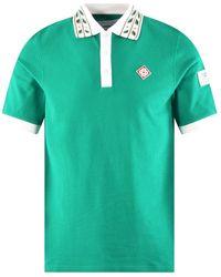 CASABLANCA Green Laurel Classic Polo Shirt