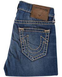 True Religion Flagstone Geno Relaxed Slim Blue Jeans