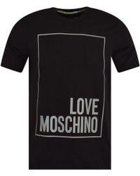Love Moschino - Square Logo T-shirt - Lyst