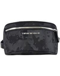 Emporio Armani Black Camo Belt Bag