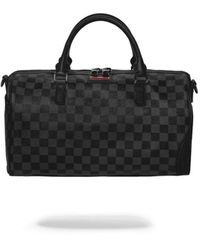 Sprayground Black Chequered Mini Duffle Bag