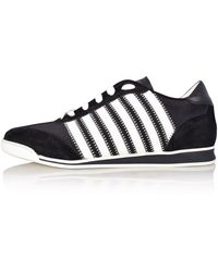 DSquared² Black & White Suede Low Top Sneakers