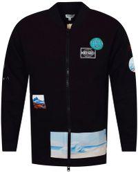 KENZO Black Zip Up Long Sweatshirt