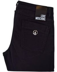 Moschino Jeans - Black Peace Pocket Slim Fit Jeans - Lyst