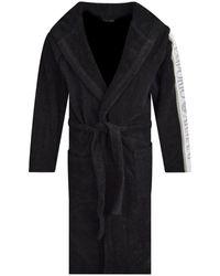 Emporio Armani Black Terry Dressing Gown