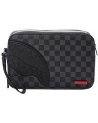 Sprayground Black/ Grey Checkered Toiletry Bag