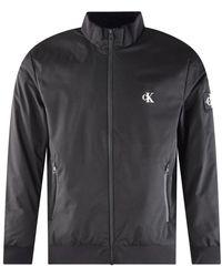 Calvin Klein Black Zip Up Harrington Jacket