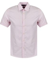 Michael Kors Pink Polka Dot Short Sleeve Shirt