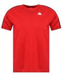 Kappa Red/white Banda Coen T-shirt