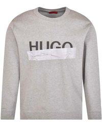 HUGO Grey Logo Sweatshirt