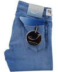 Jacob Cohen Light Wash Slim Fit Jeans - Blue