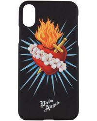 Palm Angels Sacred Heart Iphone X Phone Case - Black