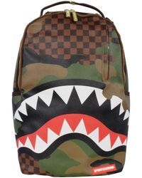 Sprayground Brown/green Checkered Camo Backpack