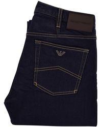 Emporio Armani Denim Blue Regular Fit Jeans