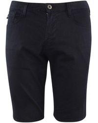 Emporio Armani Navy Eagle Chino Shorts - Blue