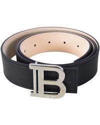 Balmain Black 'b' Leather Belt