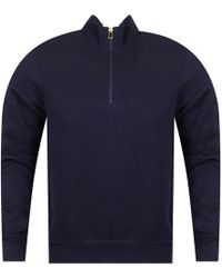 PS by Paul Smith - Navy Half Zip Track Top - Lyst