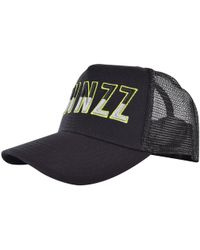 TWINZZ - Two Tone Liquid Black Trucker Cap - Lyst