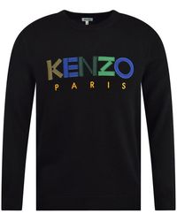 KENZO Logo Wool Sweater - Black