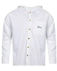 KENZO - White Hooded Bamboo Tiger Shirt - Lyst