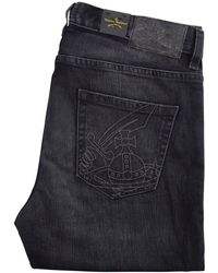 Vivienne Westwood - Washed Black Tapered Jeans - Lyst