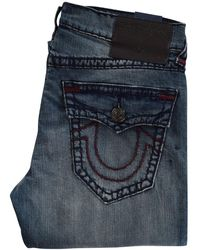 True Religion - Geno Mid Distressed Wash Relaxed Slim Jeans - Lyst
