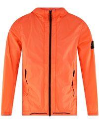 Stone Island Skin Touch Jacket - Orange