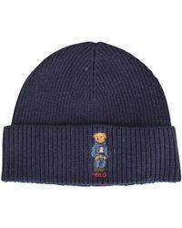 Polo Ralph Lauren Ski Bear Wool   Cashmere Beanie in Gray for Men - Lyst 98535be72804