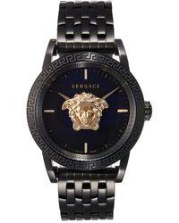 Versace Palazzo Black Steel Watch