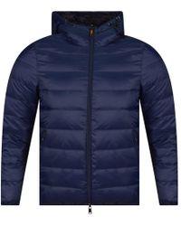Emporio Armani Navy/black Reversible Padded Jacket - Blue
