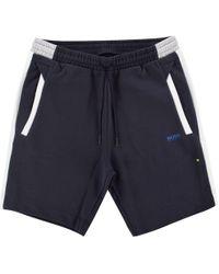 BOSS - Athleisure Navy/white Jogger Shorts - Lyst