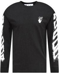 Off-White c/o Virgil Abloh Black Spray Paint Arrow L/s T-shirt