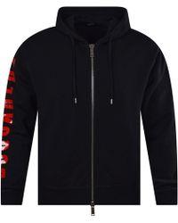 DSquared² Black Logo Zip Hoodie