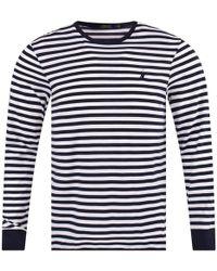 Polo Ralph Lauren Navy/white Long Sleeve Logo T-shirt - Blue